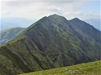 Caher (mountain) - Caher from Carrauntoohil