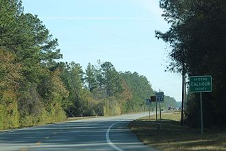 Calhoun County, Florida - The sign for Calhoun County on State Road 20