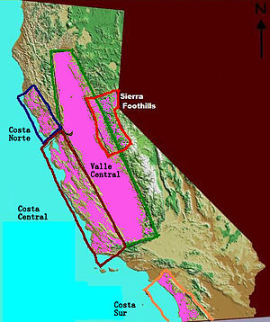 English: California wine region in Spanish Esp...