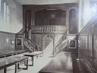 Magdalene College, Cambridge - Magdalene College formal hall, c.1870