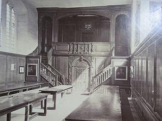 Magdalene College, Cambridge - Magdalene College formal hall, c.1870