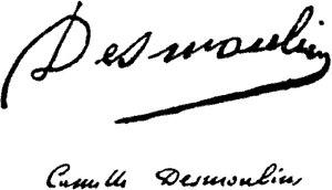 Camille Desmoulins - Image: Camille Desmoulins Signature