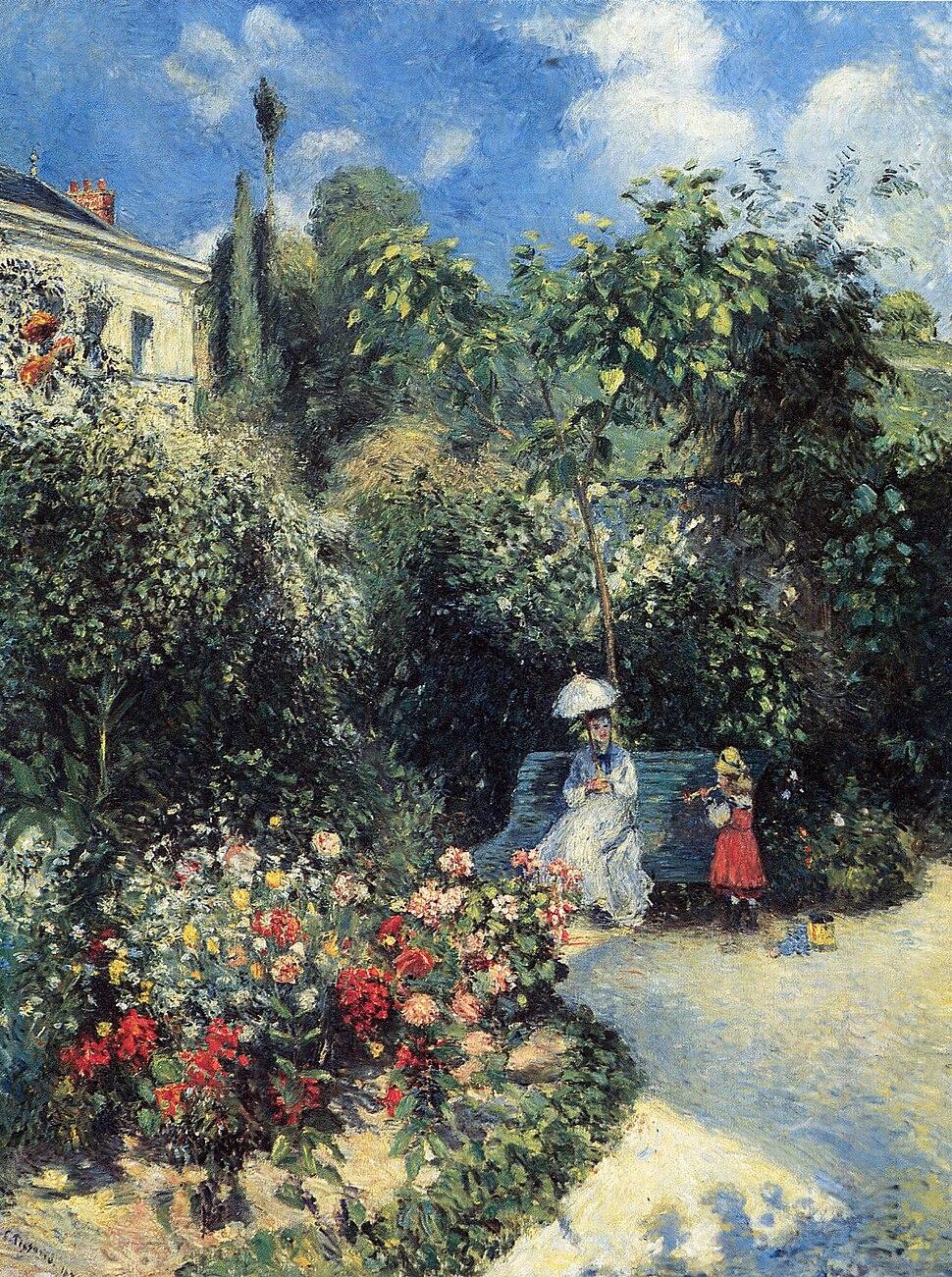 Camille Pissarro - Dans le jardin des Mathurins, Pontoise - 503