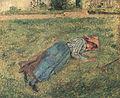 Camille Pissarro - Le Repos, paysanne couchée dans l´herbe, Pontoise - 1882.jpg