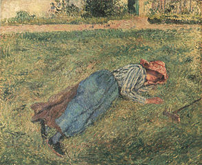 The Nap, Peasant Woman Lying in the Grass, Pontoise