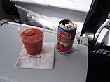 Campbell's tomato juice su un volo di Icelandair