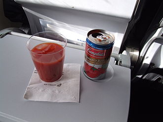 Campbell Soup Company - Campbell's tomato juice on an Icelandair flight.