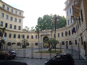 "Accademia di Belle Arti di Roma - The ""horseshoe"", home of the Accademia"