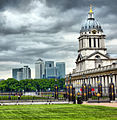 Canary Wharf and Royal Naval College (5947309034).jpg