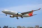 Capital Airlines Airbus A330-243 on finals at Sanya Phoenix International Airport.jpg