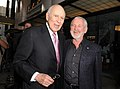 """Carl Reiner and Norman Jewison at """"A Tribute to Norman Jewison"""" at LACMA in Los Angeles on April 16, 2009. Photo by George Pimentel. (48198938787).jpg"""