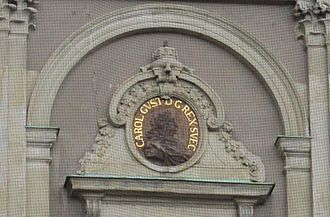 Charles X Gustav of Sweden - Image of King Carl Gustav on a wall of Stockholm Palace.