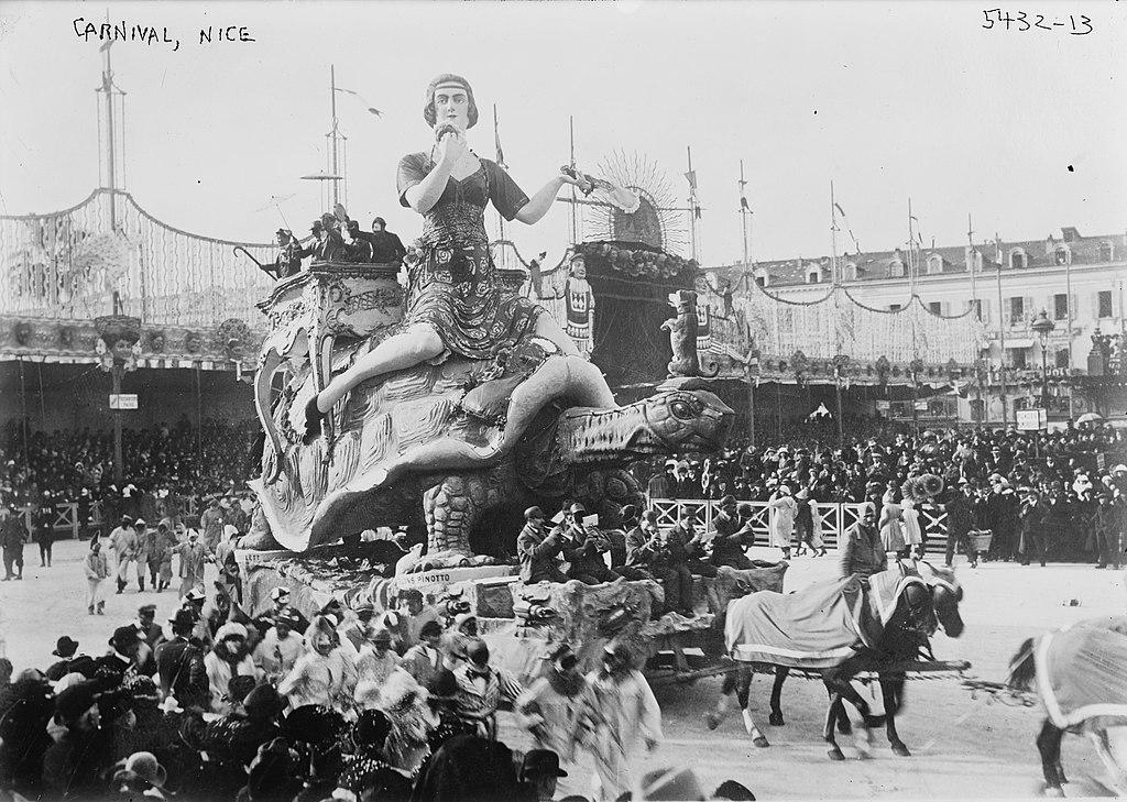 Le carnaval de Nice dans les années 1900.