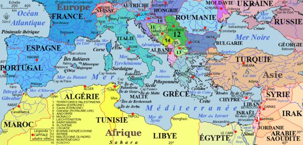 Carte Chypre Crete.Geographie De La Mediterranee Les Principales Iles De La