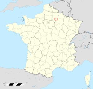 Tardenois - Image: Carte de positionnement du Tardenois