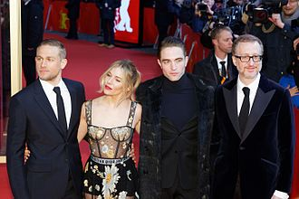 The Lost City of Z (film) - From left to right: Hunnam, Miller, Pattinson and Gray at the film's premiere at the 2017 Berlin International Film Festival.