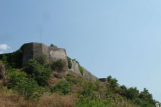 Libohovë Castle - Libohovë Castle seen from north.