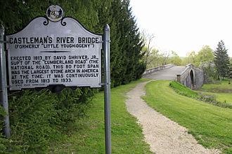 Casselman Bridge - Image: Castleman's River Bridge Historic Marker