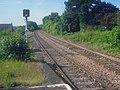 Cat crossing the line near Great Malvern Station - geograph.org.uk - 1397300.jpg