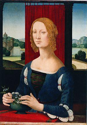 Lorenzo di Credi - Image: Caterina Sforza incut