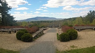 Cathedral of the Pines - View from the main sanctuary, looking at Mount Monadnock