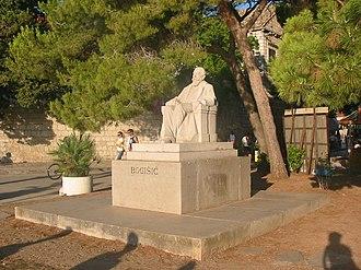 Valtazar Bogišić - Bogišić Monument at his birthplace Cavtat