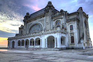 "Left to right: <a href=""http://search.lycos.com/web/?_z=0&q=%22Constan%C8%9Ba%20Casino%22"">Constanța Casino</a>, Museum of National History, Greek Church, The <a href=""http://search.lycos.com/web/?_z=0&q=%22Genoese%20Lighthouse%22"">Genoese Lighthouse</a>, <a href=""http://search.lycos.com/web/?_z=0&q=%22Carol%20I%20Mosque%22"">Carol I Mosque</a>, The house with Lions"