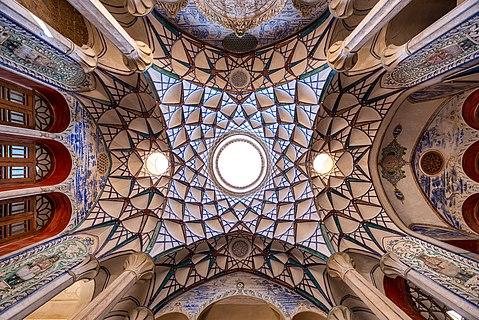 Ceiling of a room at Borujerdi House, Kashan, Iran