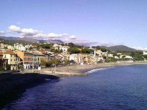 Panorama di Celle Ligure