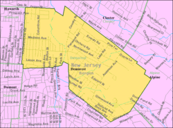 Census Bureau map of Demarest, New Jersey