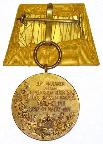 Centenary Medal (Prussia) - Image: Centenarmedaille 2
