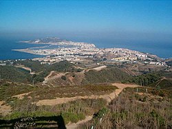 Ceuta, as seen from the belvedere of Isabel II, near the Moroccan border