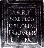 Inscription sur bronze à Mars Nabelcus