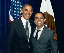 Chahal with U.S. President Barack Obama.jpg