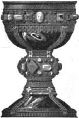 Basílica de San Isidoro, León - The Chalice of Doña Urraca in the Basillica's museum.
