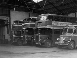 Chambers (bus company) - 3 Guy Arabs and a Bedford OB in July 1970