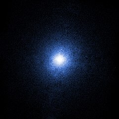 Lubang hitam dapat dideteksi melalui sinar-X yang dipancarkan olehnya. Ini adalah citra dari Cygnus X-1 oleh Observatorium Chandra