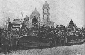Odessa-Nikolaev March - French tanks in Odessa, 1919