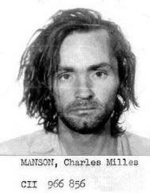 Manson Family - County Sheriff mugshot of Manson August 16, 1969. He was arrested on suspicion of car theft. Those charges were later dropped on account of a misdated warrant.