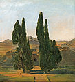 Charles Eastlake - Cypress trees at the Villa d'Este - Google Art Project.jpg