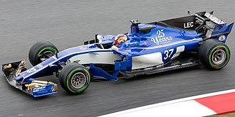 Charles Leclerc (racing driver) - Leclerc testing for Sauber at the 2017 Malaysian Grand Prix.