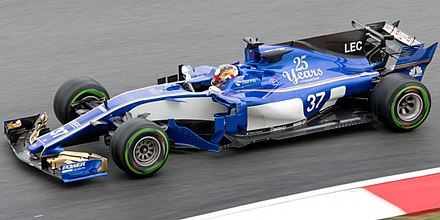 Leclerc testing for Sauber at the 2017 Malaysian Grand Prix Charles Leclerc 2017 Malaysia FP1.jpg