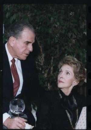 Charles Z. Wick - visiting with the First Lady in 1984