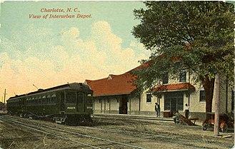 Piedmont and Northern Railway - Postcard of Charlotte Interurban Depot