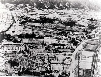 Chatham Road - Chatham Road (right) and parts of Kowloon c.1930