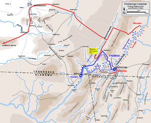 Battle of Missionary Ridge - Image: Chattanooga Campaign Supply+Wheeler