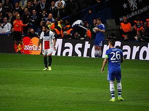 Ezequiel Lavezzi - Lavezzi in PSG's Champions League quarter-final against Chelsea in April 2014