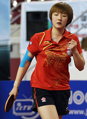 Chen Meng - Chen Meng in the women's final of the 2012 Qatar Open