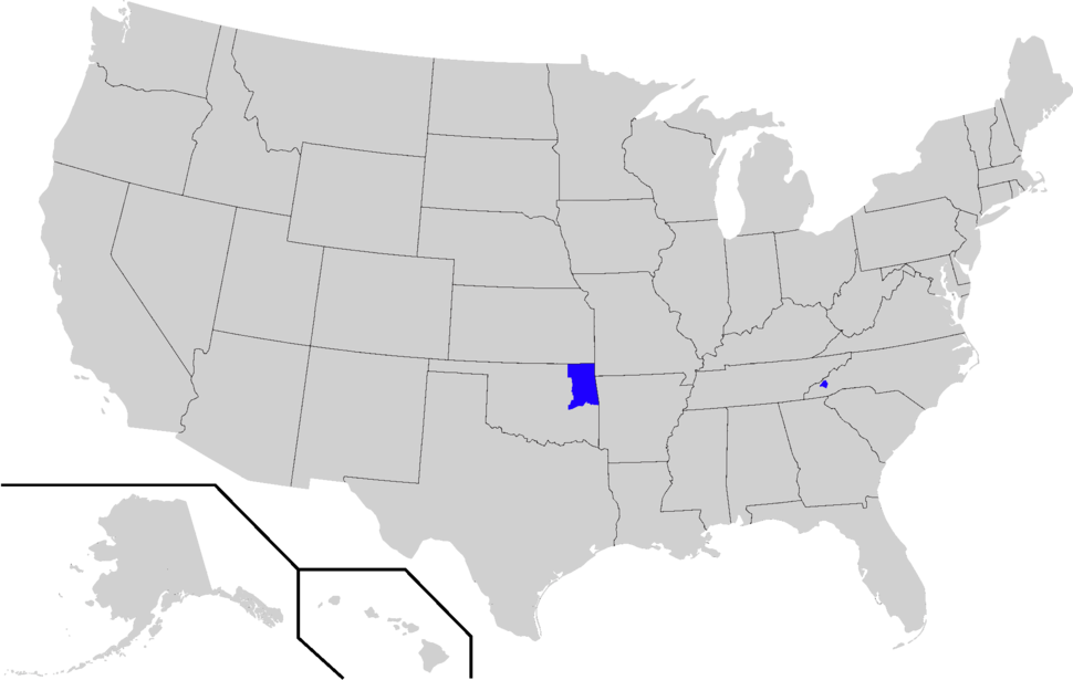 Cherokee Speaking Areas Within The USA