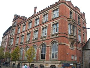 Manchester Castle - Chetham's School of Music on the site of Manchester Castle